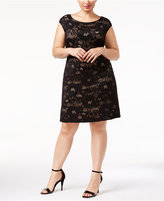 Connected Plus Size Lace Sheath Dress