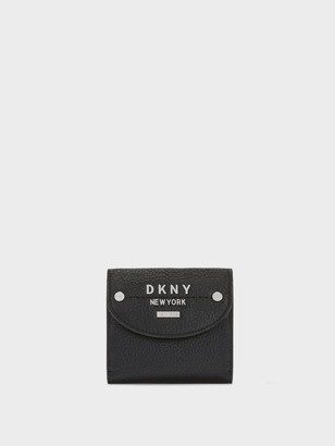 DKNY Women's Small Trifold Envelope Wallet - Black/Silver - Size N/S