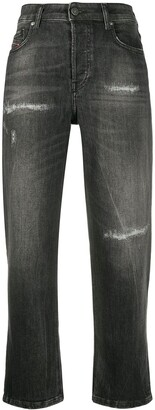 Diesel high rise distressed jeans