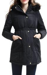 Kimi and Kai Mina 2-in-1 Hooded Maternity Coat