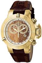 Invicta Women's Subaqua/Noma III Diamond Accented Chronograph Brown Leather