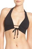 Robin Piccone Women's Keyhole Halter Bikini Top