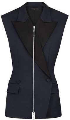 Louis Vuitton Sleeveless Zip-Up Blazer