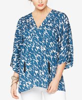 Rachel Zoe Maternity Printed V-Neck Blouse