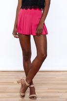 Everly Hot Pink Pleated Shorts
