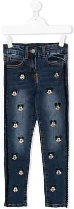 MonnaLisa Mickey Mouse motif jeans