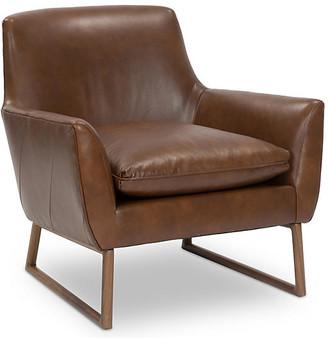 Kim Salmela Nash Accent Chair - Pecan Leather