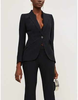Alexander McQueen Tailored peak-lapel crepe blazer