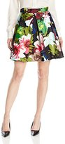 Trina Turk Women's Sheri Brandy Alexander Silk Mikado Skirt
