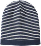 Joe Fresh Men's Stripe Ribbed Knit Hat, Light Navy (Size O/S)