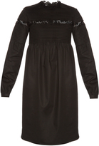 Rochas Macramé-lace trimmed cotton-blend dress