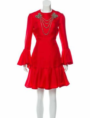 Gucci 2016 Silk Crepe Dress w/ Tags Red
