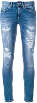 Dondup distressed cropped skinny jeans - women - Cotton/Polyester - 25
