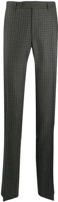 Canali Plaid Print Trousers