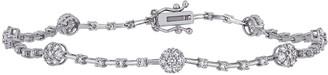 Affinity Diamond Jewelry Affinity 1.00 cttw Diamond Station Bracelet, 14K