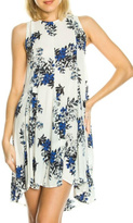 En Creme Sleeveless Floral Tunic