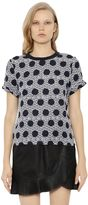 Mother of Pearl Nell Silk Crepe & Cotton Jersey Top