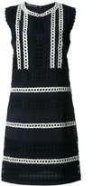 Alberta Ferretti crochet trim shift dress - women - Cotton/Modal - 44