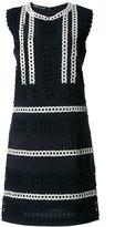 Alberta Ferretti crochet trim shift dress