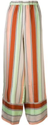 Pierre Louis Mascia Striped Wide Leg Trousers