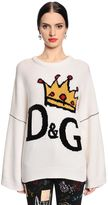 Dolce & Gabbana Crown Logo Intarsia Wool Sweater