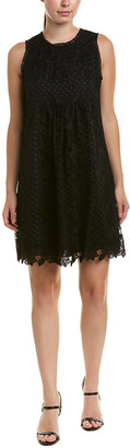 Anna Sui Floral Diamond And Medallion Lace Shift Dress