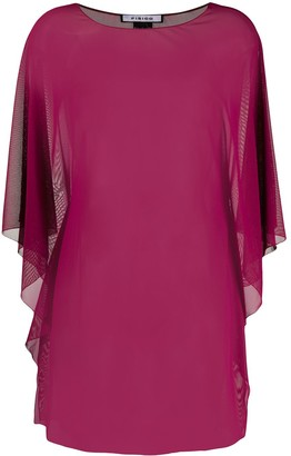 Fisico Sheer Draped Blouse