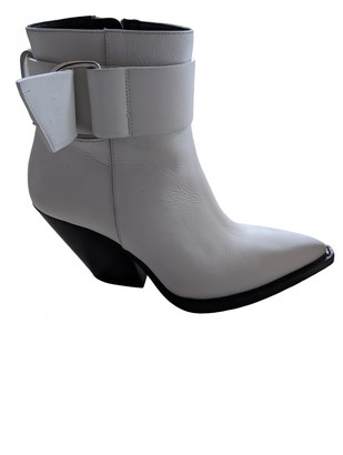 IRO White Leather Boots
