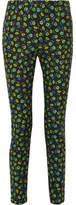Prada Floral-print Stretch-cotton Skinny Pants - IT44
