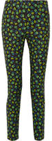 Prada Floral-print Stretch-cotton Skinny Pants - Midnight blue