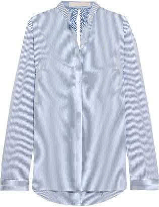 Dion Lee Open-back Striped Stretch-cotton Poplin Shirt