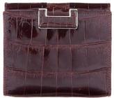 Judith Leiber Crocodile Compact Wallet