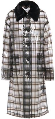 Stand Studio Debbie Faux Fur-trimmed Printed Pvc Raincoat