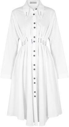 Palmer Harding Palmer//harding Escen White Cotton Shirt Dress