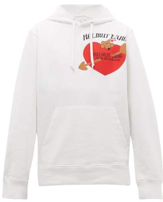 Helmut Lang Valentine Print Cotton Hooded Sweatshirt - Mens - White