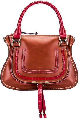Chloé Medium Marcie Double Carry Bag in Sepia Brown | FWRD
