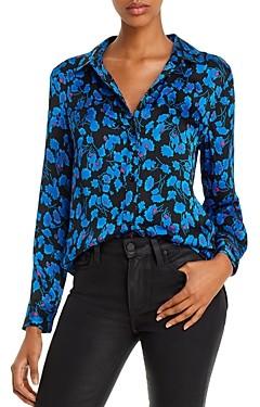 Equipment Leema Floral Satin Button-Down Shirt