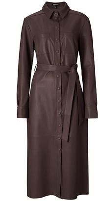 Baukjen Rachel Leather Shirt Dress