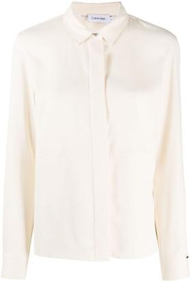 Calvin Klein Concealed Front Shirt