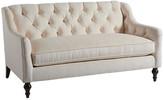 Barclay Butera Hyland Park Settee - Ivory frame, espresso; upholstery, ivory