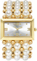 Charter Club Women's Gold-Tone Imitation Pearl Stretch Bracelet Watch 40mm 13831