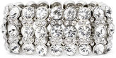 Natasha Accessories Natasha Crystal Silver-Tone Stretch Bracelet