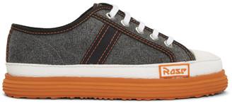 Martine Rose Grey Denim Low Basketball Sneakers