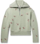 Acne Studios - Nicolai Oversized Embroidered Merino Wool-blend Half-zip Sweater