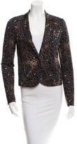 Tory Burch Printed Notched Lapel Blazer w/ Tags