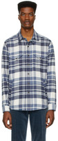 Ralph Lauren Purple Label Blue and Off-White Flannel Shirt