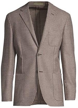 Corneliani Trim-Fit Houndstooth Sportcoat