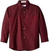 Calvin Klein Kids Long Sleeve Gradient Stripe Shirt (Little Kids)