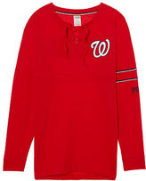 PINK Washington Nationals Bling Lace-up Varsity Crew