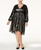Melissa McCarthy Trendy Plus Size Metallic Shift Dress